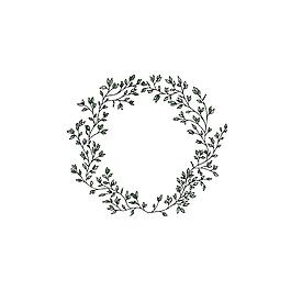 綠葉藤蔓花環
