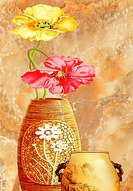 花瓶玉石掛畫圖片