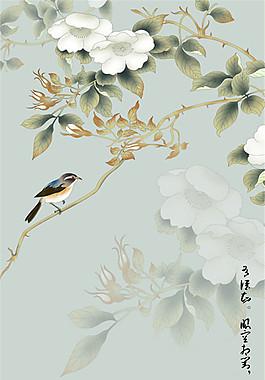 水墨花鳥畫圖片