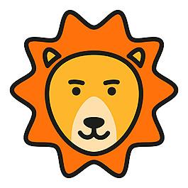 太陽獅子標志圖片
