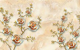 玉雕花朵背景圖片