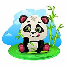 可愛的大熊貓