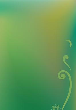 夢幻墨綠花朵背景