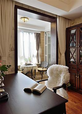 現代簡約書房裝修圖片