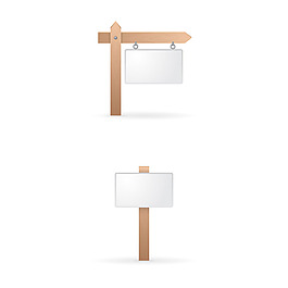空白木標牌集合