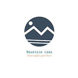 抽象山水標志logo