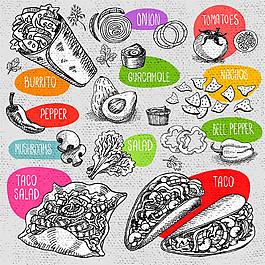 墨西哥雞肉卷圖片