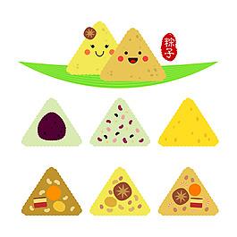 端午節不同可愛粽子設計元素