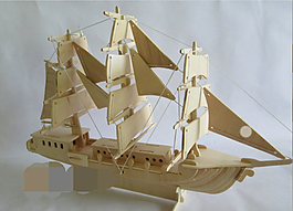 帆船拼裝工藝