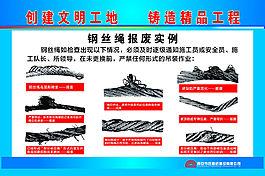 鋼絲繩報廢實例展板