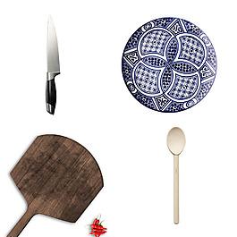 美食西點餐具盤子刀