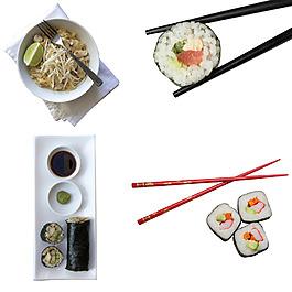 美食西點壽司筷子