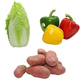 美食實物圖蔬菜白菜燈籠椒紅薯