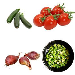 美食實物圖蔬菜西紅柿黃瓜