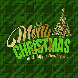 201圣誕樹煙花背景矢量素材