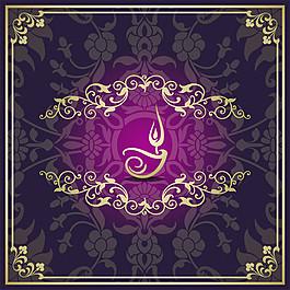 精美花紋花邊蠟燭圖案圖片