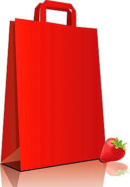 卡通草莓手提袋圖片