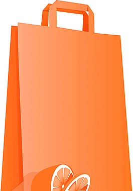 卡通橙子手提袋圖片