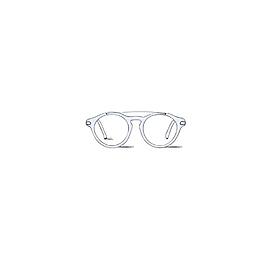 淡藍色時尚眼鏡框