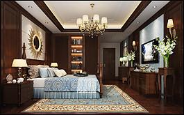 歐式臥室電視墻設計圖