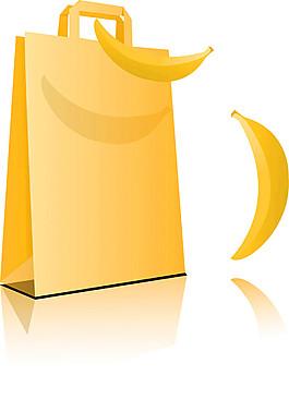 卡通香蕉袋子圖片