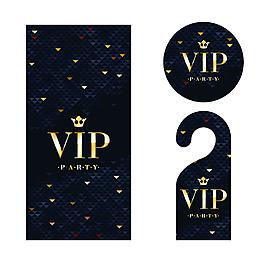 vip卡片吊牌設計矢量素材
