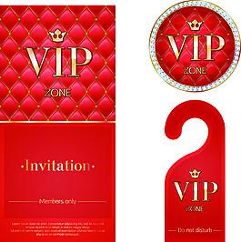 vip卡片吊牌設計矢量素材紅色鉆石