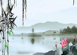 荷花池背景