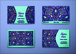 花紋復古卡片名片矢量素材