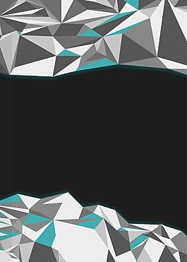 彩色幾何三角背景