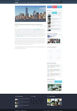 國外網頁內頁UI設計模板素材