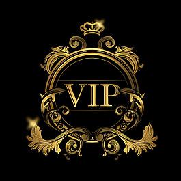 Vip黃金色標志logo