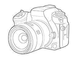 卡通矢量可愛手繪線稿相機裝飾圖案元素素材