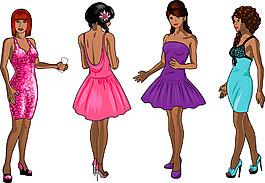 穿裙子的性感女人图片
