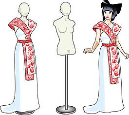 傳統服裝模特美女圖片