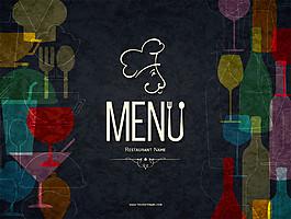 創意菜單背景圖片