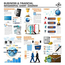 金融商務信息圖表圖片1