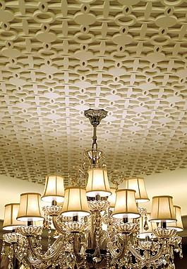 豪華別墅水晶吊燈圖片