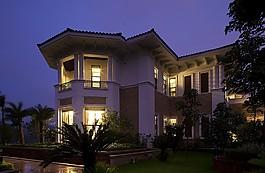 中式奢華別墅效果圖