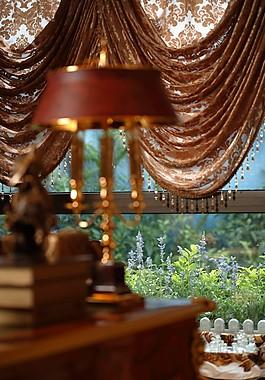 豪華室內窗簾設計圖