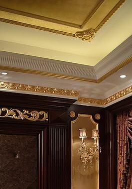 豪華室內背景墻壁燈設計圖