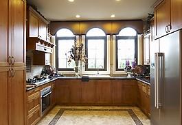 時尚廚房實木櫥柜設計圖