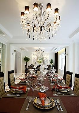 歐式餐廳餐桌吊燈設計圖
