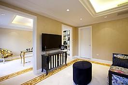 歐式室內電視墻設計圖