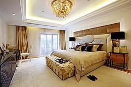 歐式臥室大床吊燈設計圖