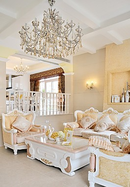 時尚客廳吊燈壁燈設計圖