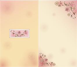 夢幻粉色花朵背景