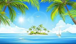 海景風光背景
