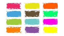 彩色花紋筆刷