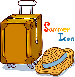 卡通夏季旅游素材設計